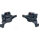 MicroShift LD0135 microSHIFT TS71 Thumb Tap Shifter Set, 8-Speed, Triple, Optical Gear Indicator, Shimano Compatible