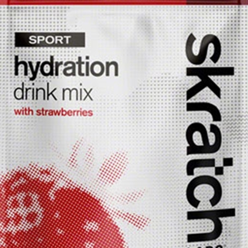 EB0465 Skratch Labs Sport Hydration Drink Mix: Strawberries, 20-Serving Resealable Pouch